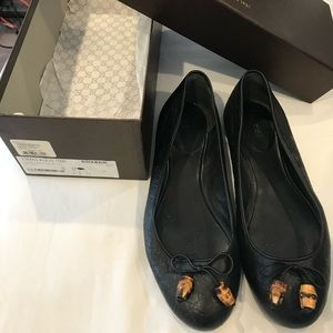 Microguccissima black flat, 37.5, barely worn